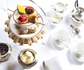High tea at Durrants Hotel, George Street, London W1