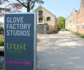 This is the front entrance to The Glove Factory in Holt.