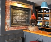 The bar at The Three Tuns in Romsey